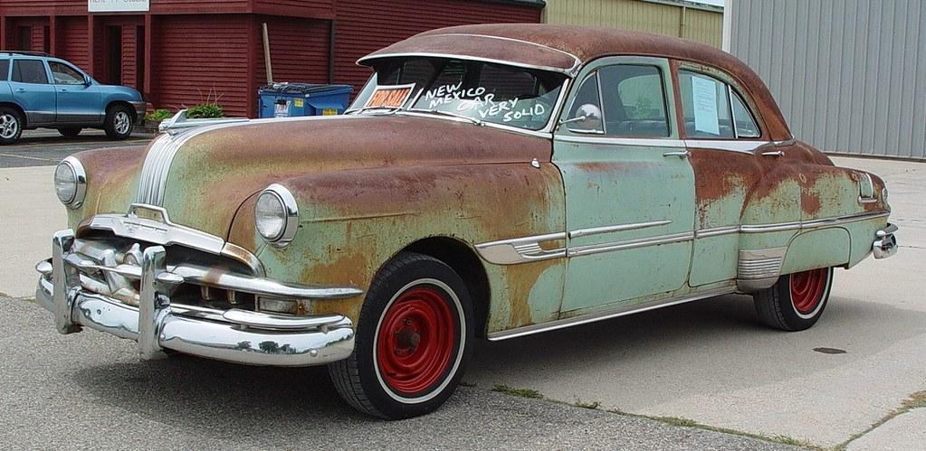 1952 Pontiac Chieftain Eight Deluxe 4 Door Sedan On Blue