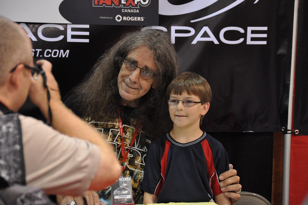 Young Peter Mayhew Peter Mayhew and a You...