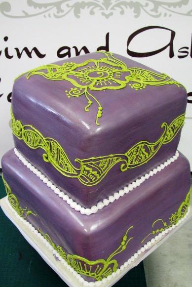 Purple and Green Wedding Cake | www.kimandashlee.com Design … | Flickr