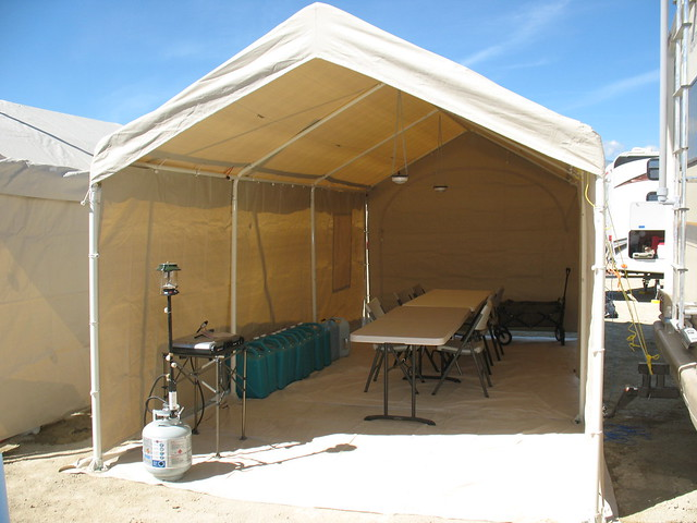 Overview of shade structure types : BurningMan