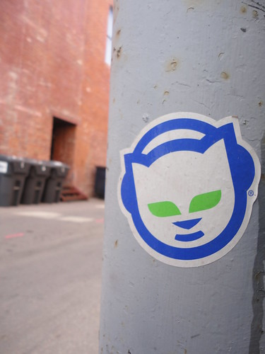 Napster Sticker in an Aspen Alley | by pasa47