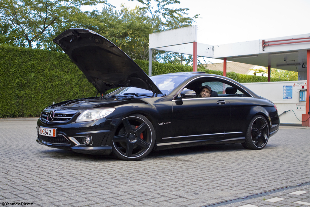 mercedes cl 500 with amg kit black on black cl500 with. Black Bedroom Furniture Sets. Home Design Ideas