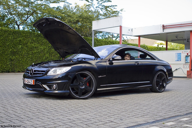 mercedes cl 500 with amg kit black on black cl500 with amg flickr photo sharing. Black Bedroom Furniture Sets. Home Design Ideas