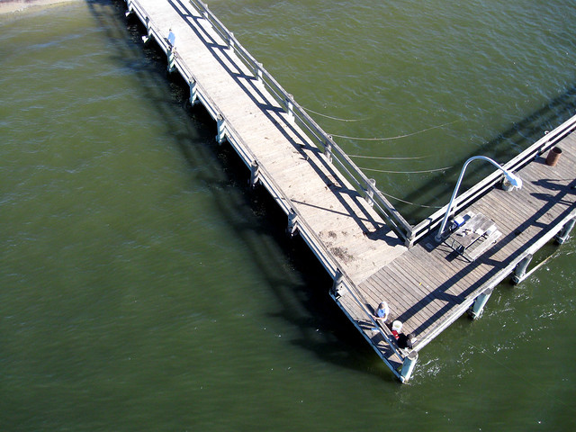 captree state park ny fishing piers kite aerial