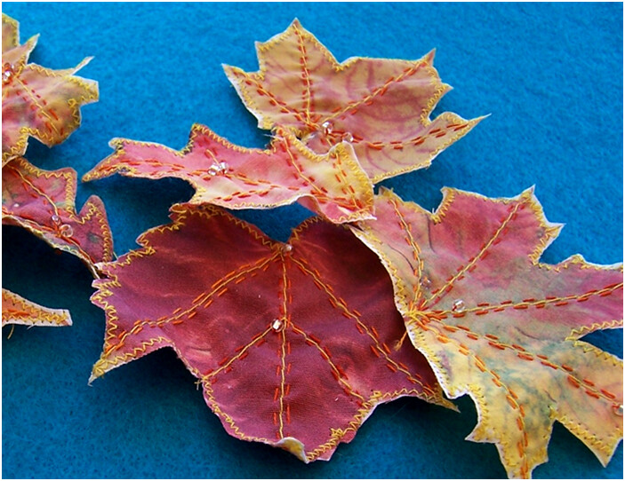 Fabric Leaves | Tutorial on how to make printer fabric ...