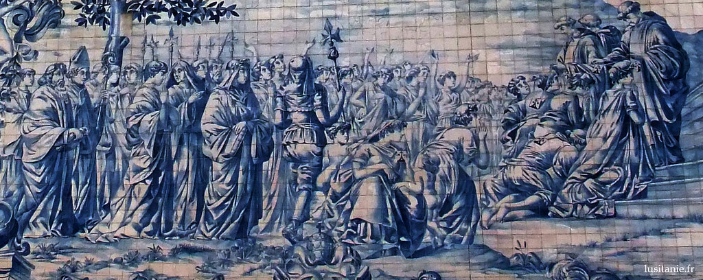 Azulejos de la façade latérale de l'église