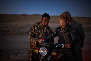 Tyler & Charlie on Mongolian Motorbike | by goingslowly