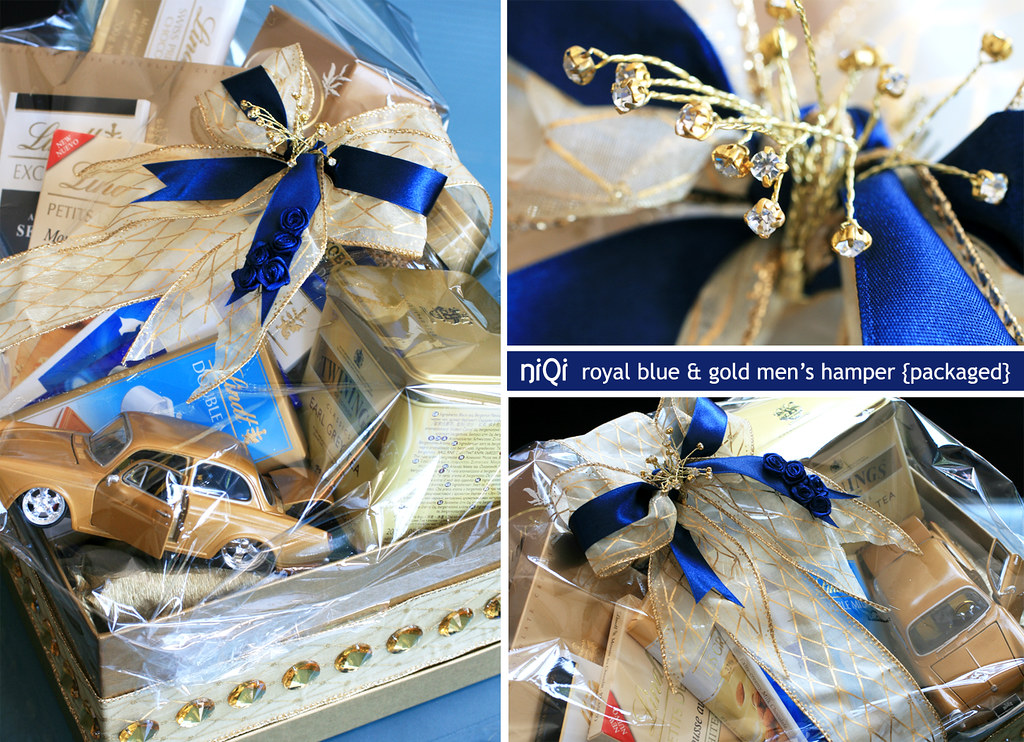 Royal Blue Gold Mens LINDT Chocolate Hamper