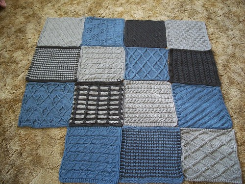 Knit Blanket Squares Ive been knitting at least one ...