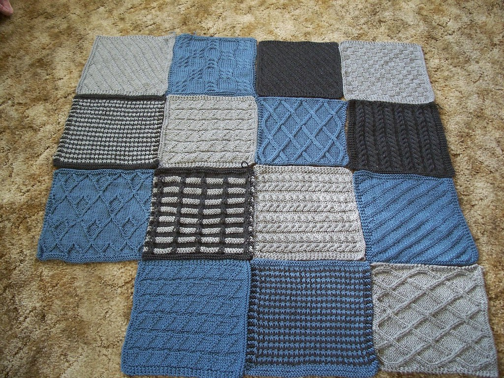 Knitting Patterns Squares : Knit Blanket Squares Ive been knitting at least one squar? Flickr