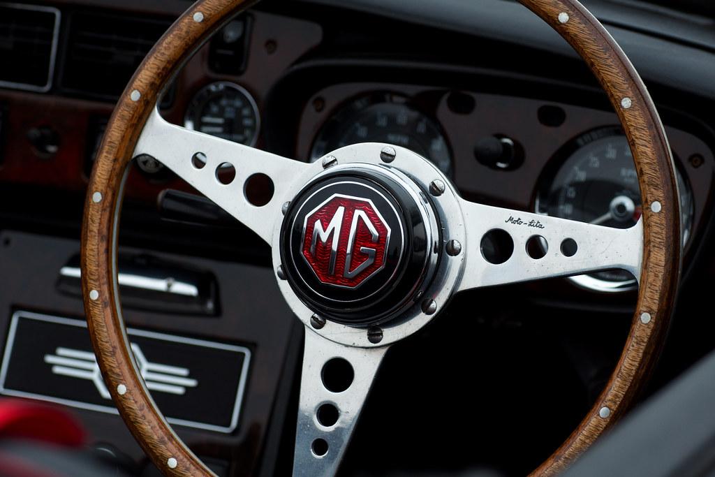 Mgb Steering Wheel Taken At The Thatcham Classic Car
