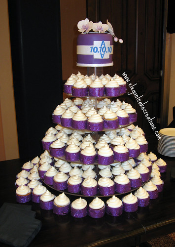 White And Purple Wedding Cupcakes Rush Order For 10 10