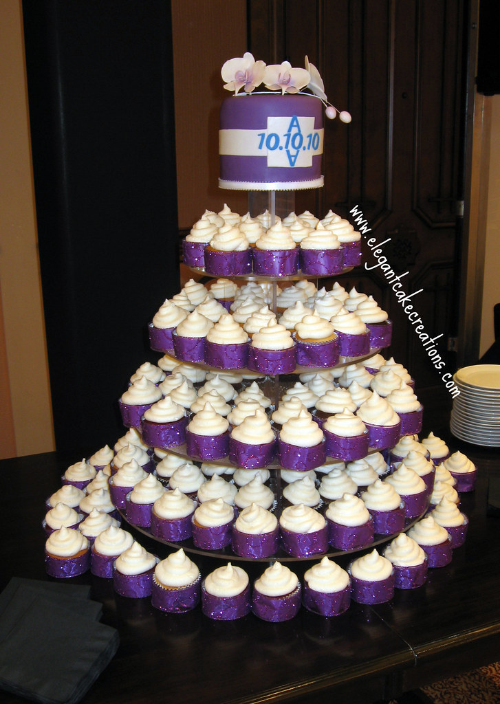 Purple And White Wedding Cake Ideas Cupcakes Rush Order For