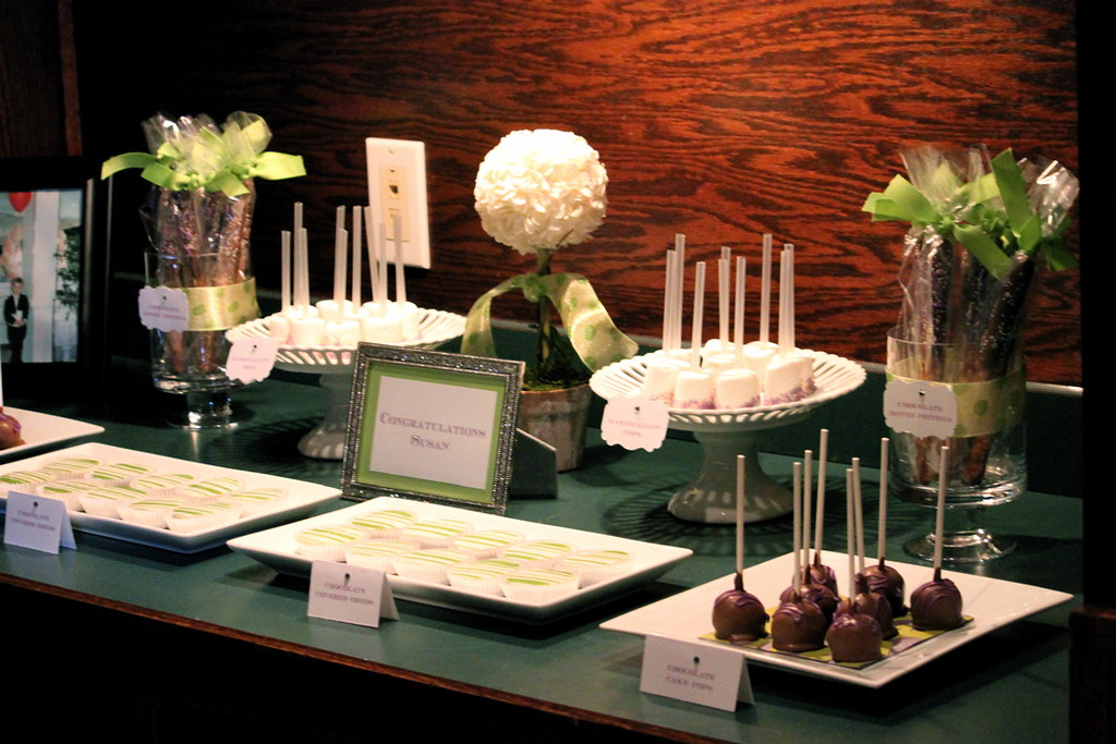 susans bridal shower sweets table by the couture cakery