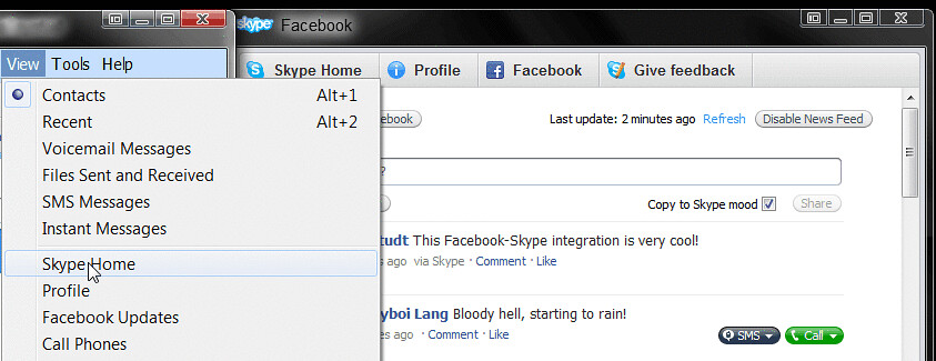 how to add facebook friends on skype