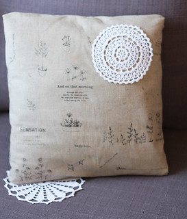 doily cushion | by Katarina Roccella