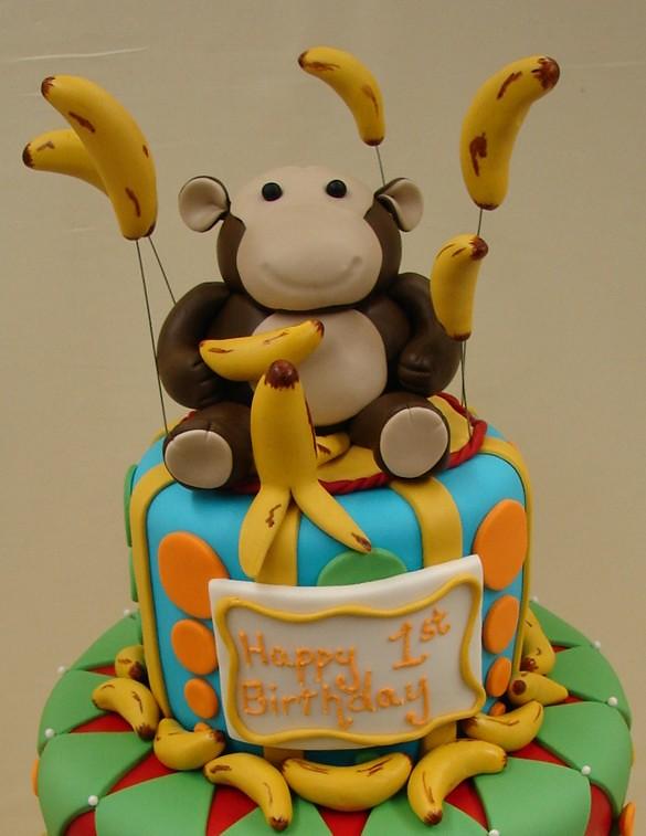 Monkey Themed Birthday Cake Monkey Themed Birthday Cake T Flickr