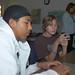 Teens working on movie trailer at Library Sponsored Digital Arts Workshop