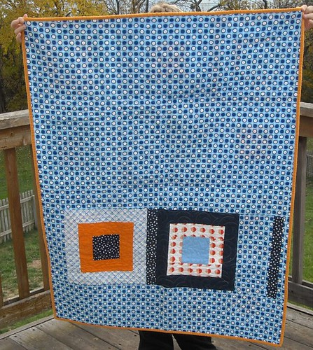 blue/orange charity quilt back | by vickivictoria