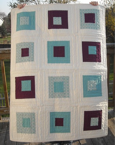 purple/aqua charity quilt | by vickivictoria