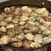 Wok full of clams