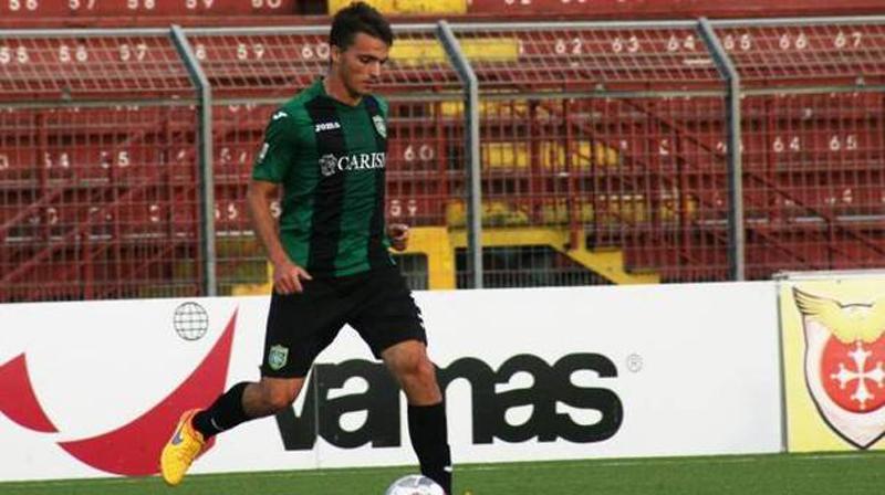 Matteo Bachini con la maglia del Tuttocuoio