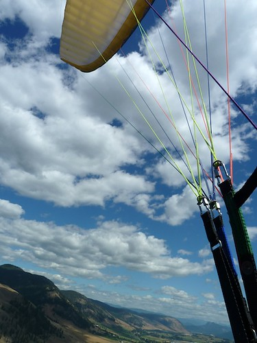 Starting to spiral down on the Aspen3 | by VIParagliding