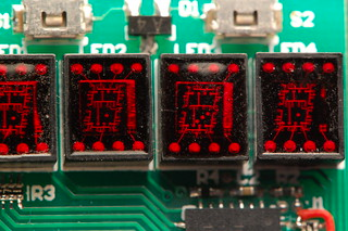 LED Wristwatch - Closeup of LEDs | by eschlaep