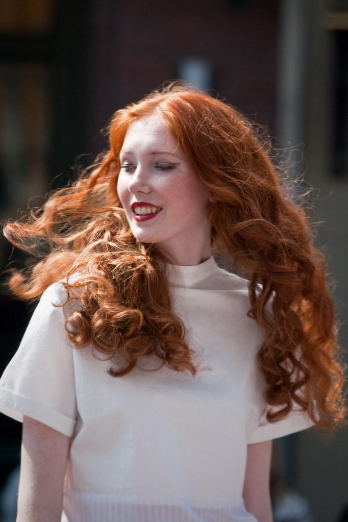 3d redhead in white lingerie teasing - 5 8