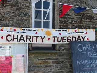 Charity Tuesday banner, Tintagel | by HowardLake