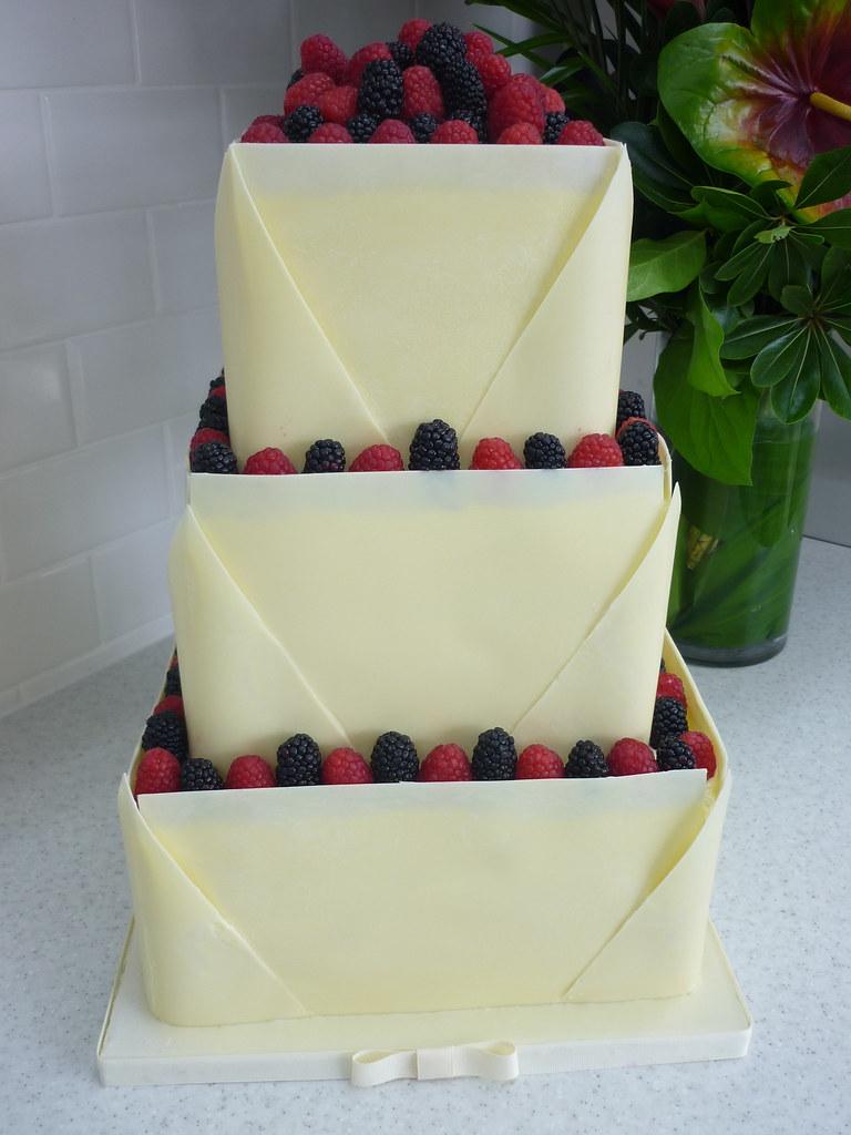 White Chocolate Raspberry Wedding Cake | Vanilla pound cake … | Flickr