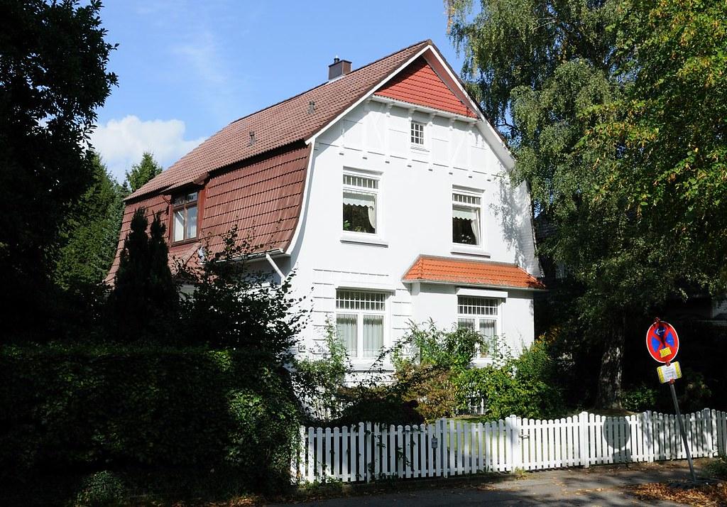 7373 einzelhaus mit weissem gartenzaun bindfeldweg arch flickr - Gartenzaun hamburg ...