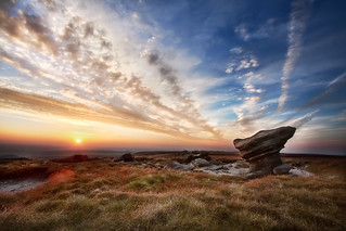 'Odd Formations', England, The Peak District, Kinder Scout Hilltop | by WanderingtheWorld (www.ChrisFord.com)