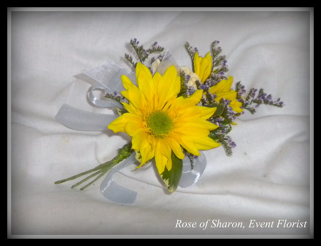 Boutonniere Yellow Daisy Rose Of Sharon Floral Designs Flickr