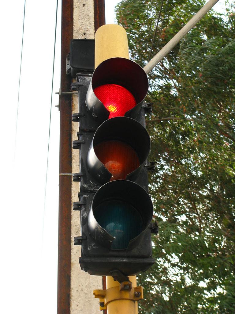 Old Traffic Light Fullarton Road Very Old Traffic