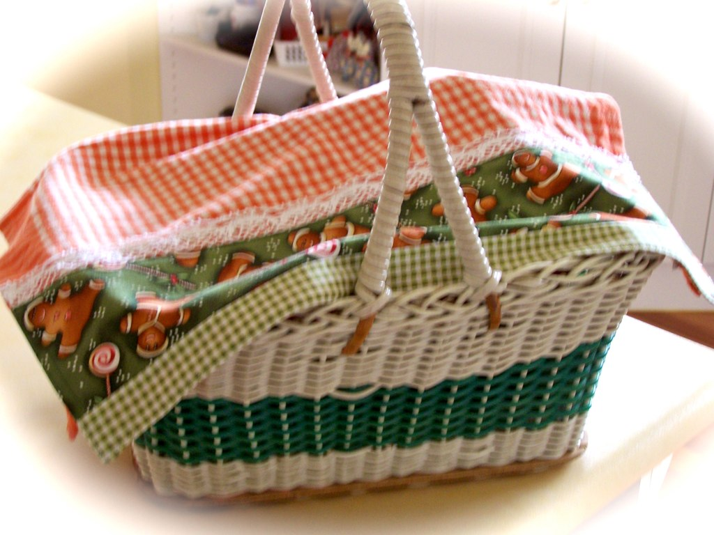 Christmas tea towels are great basket covers. | This eye ...
