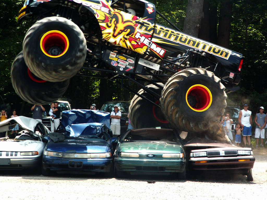New Jeep Truck >> raminator over cars | Here is the Monster Truck Raminator dr… | Flickr