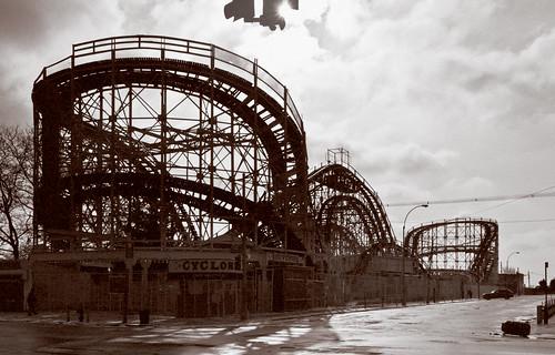 Coney Island Cyclone Surf Avenue Brooklyn Ny