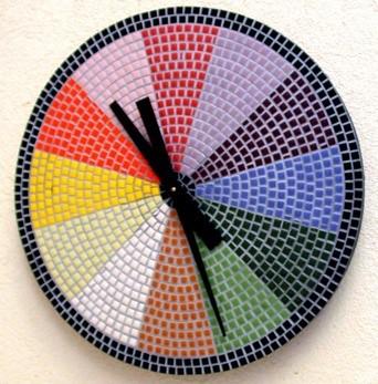 Reloj con mosaico infinidad de objetos para recubrir - Mecanismo para reloj de pared ...