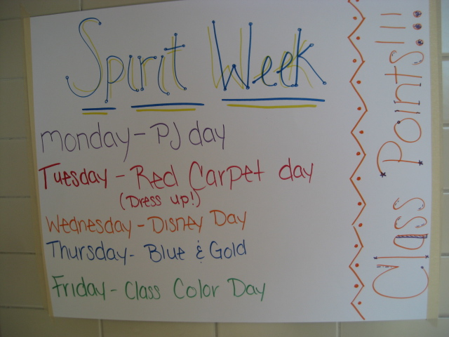 High School Quot Spirit Week Quot Mid Michigan Usa Wall Poster