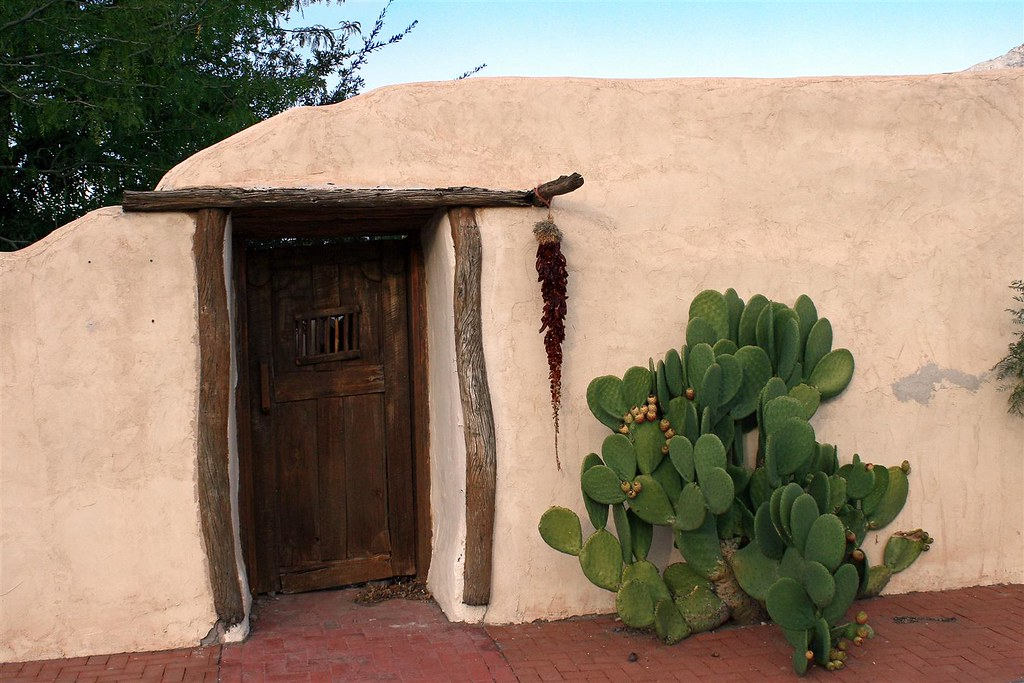 Adobe building old mesilla new mexico fiera121 flickr for Building an adobe house