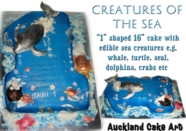 SEA CREATURES WHALE 1st BIRTHDAY CAKE CREATURES OF THE SEA Flickr