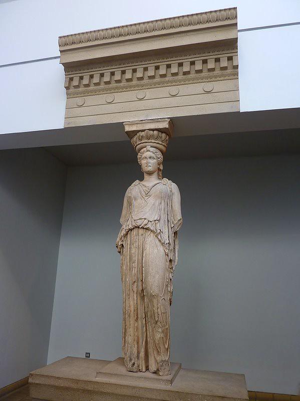 Caryatid From The Erechtheion British Museum The