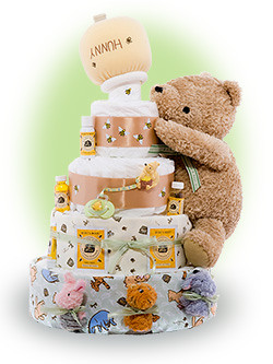 Baby Pooh Baby Shower Cakes