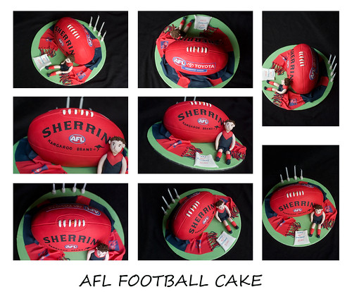 Football Cakes Made Out Of Cupcakes