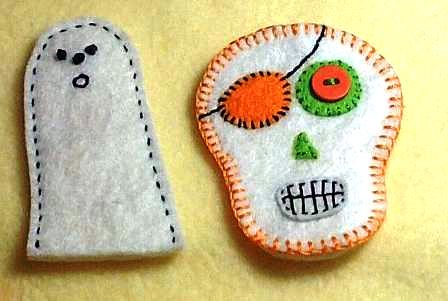 sugar skull an Ghost Finger Puppets / Pencil Toppers | Flickr