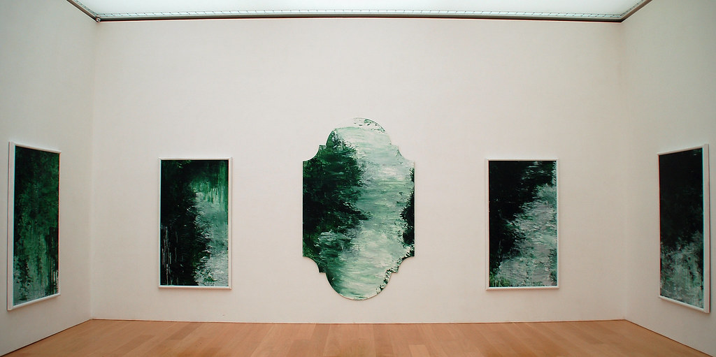 untitled  green paintings