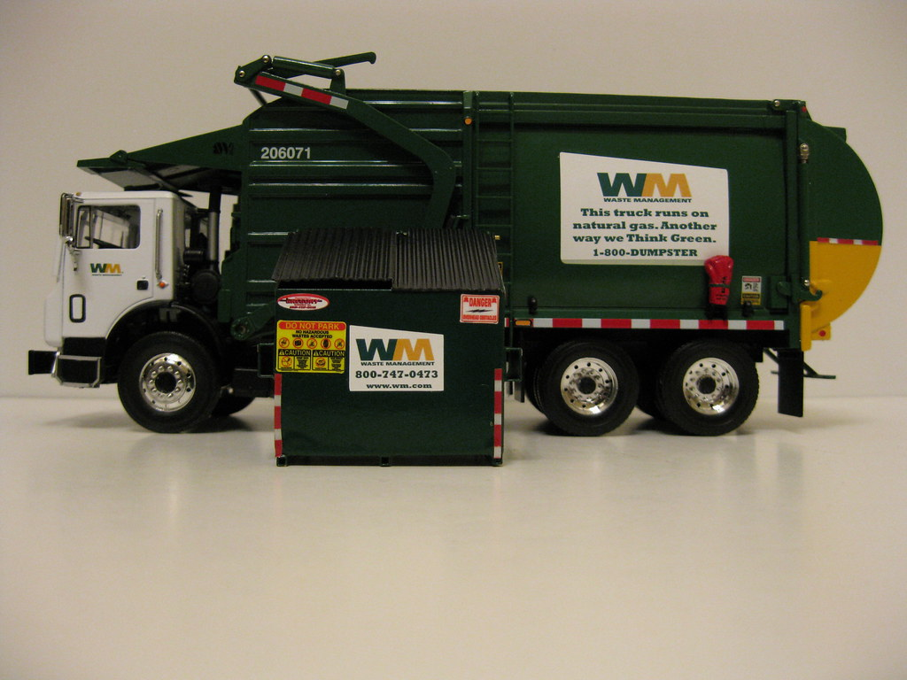 First Gear Waste Management Front Load Garbage Truck W Bi