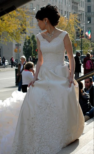 NYC Bride on the steps of the Metropolitan | by MY PINK SOAPBOX