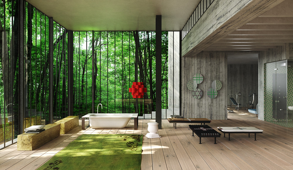 Livin 39 conversations in chandigarh concrete bath for Bathroom interior designers in chandigarh
